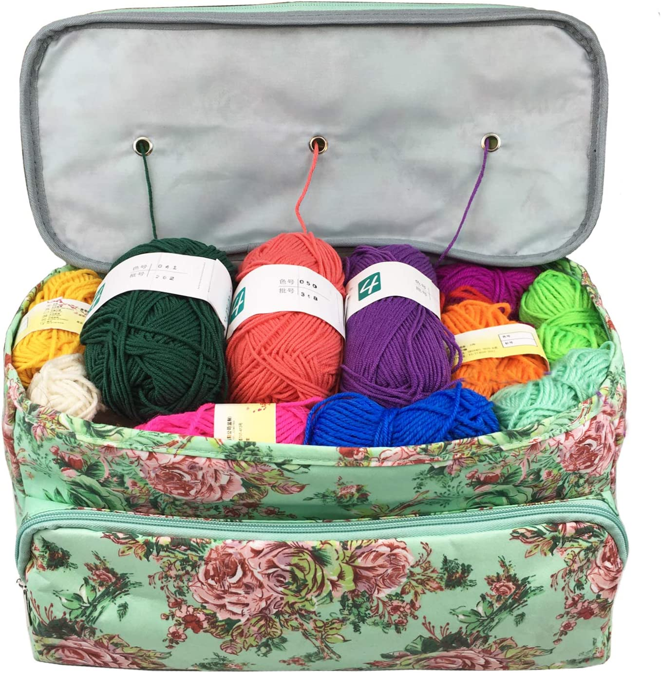 Portable Storage Tote Bag Sewing Knitting Yarn/&Wool Organizer Holder Bag