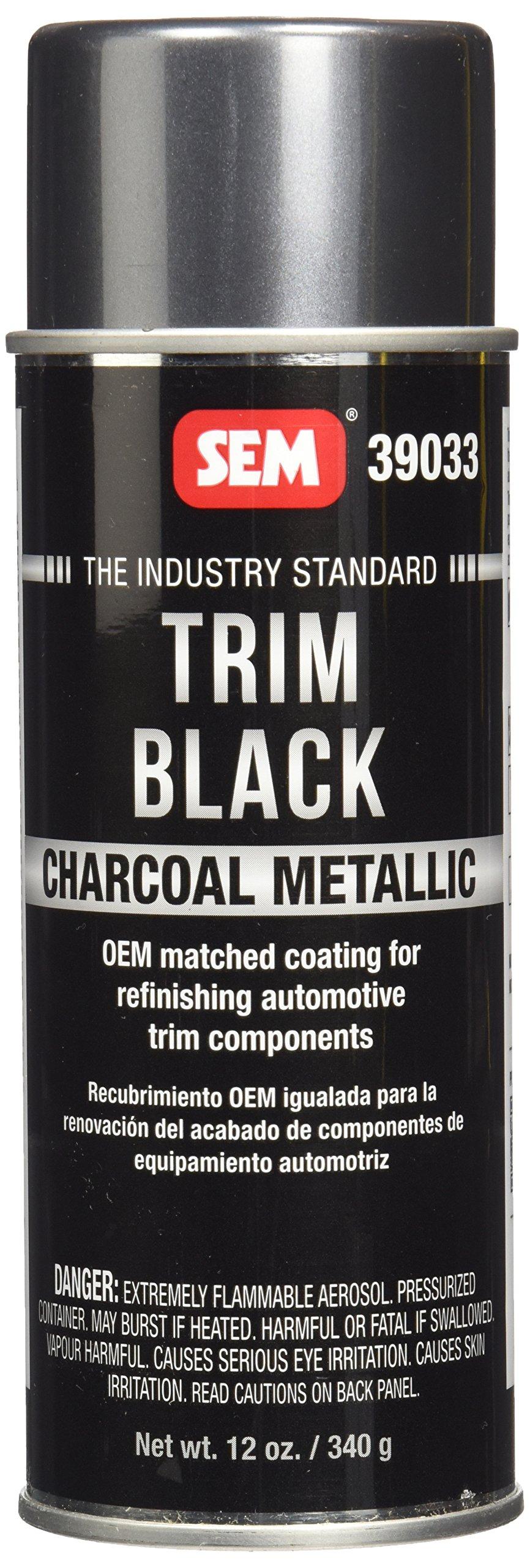 SEM 39033 Charcoal Trim Metallic Aerosol - 12 oz.