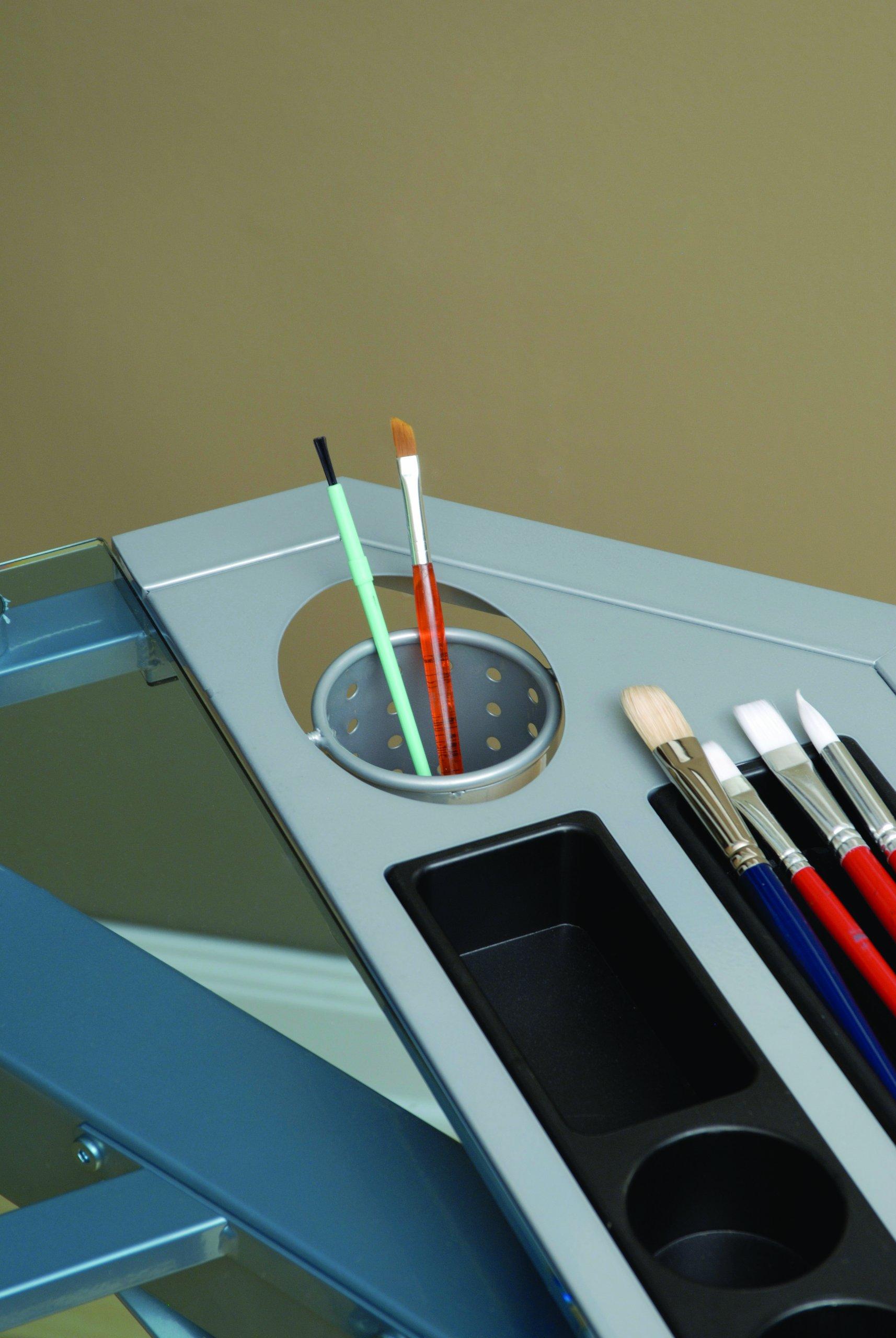 Studio Designs 10057 Futura Tower, Silver/Blue Glass by Studio Designs