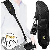 Camera Strap, Safety Rapid Shoulder Strap Sling Belt, Neck Strap with Quick Release - SD Card Case - Safety Tether - Safety Leash for Nikon Canon DSLR Camera