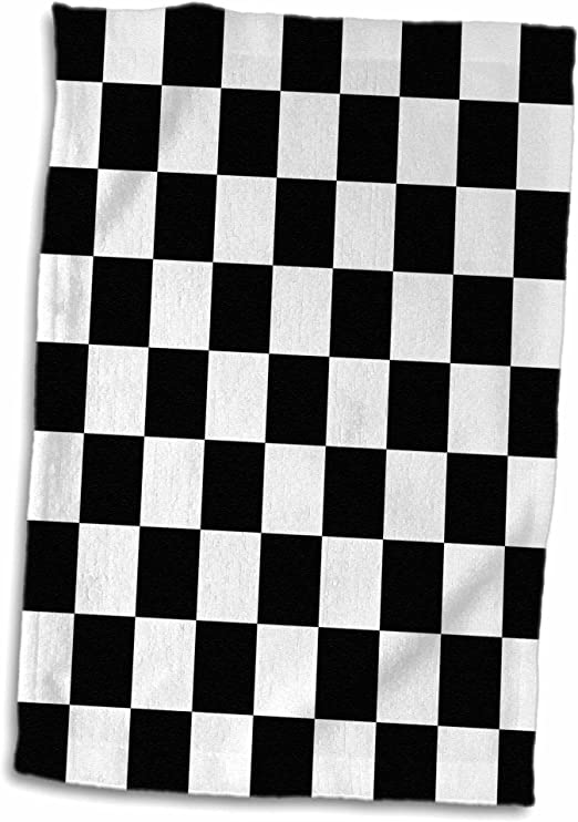 BLACK white CHECK CHEQUERBOARD checked chessboard BANDANA