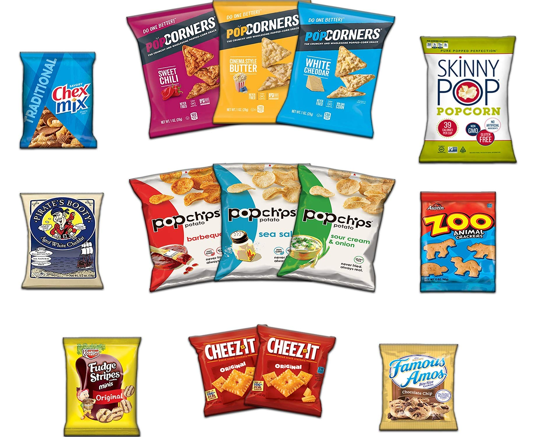 Ultimate Snack Assortment Care Package - Chips, Crackers, Cookies, Nuts, Bars - School, Work, Military or Home (40 Pack) by Custom Treats (Image #1)