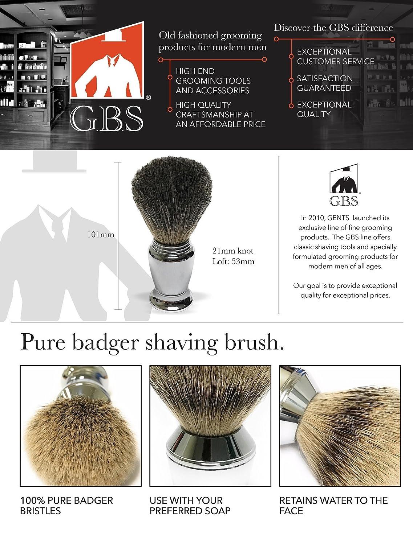 GBS Premium Mens Wet Shaving Kit - Butterfly DE Safety Razor
