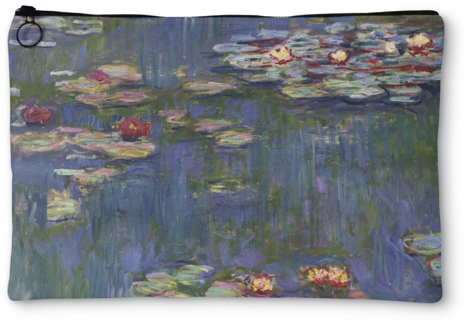 Water Lilies by Claude Monet Zipper Pouch - Large - 12''x9''