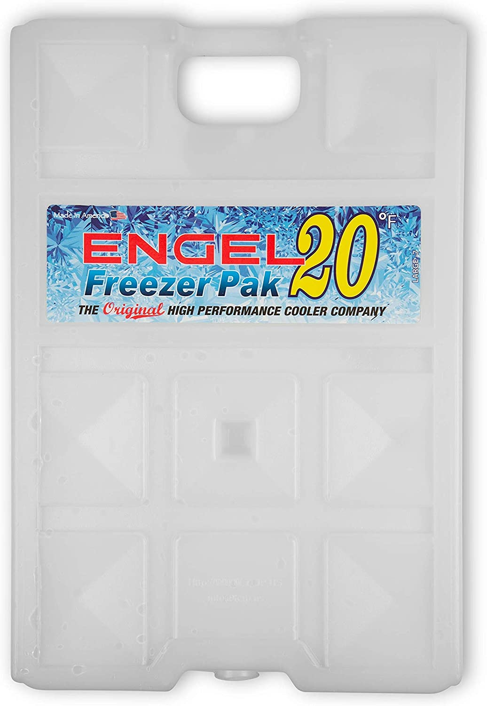 Medium White 2 Lb Engel Coolers 20F Degree Hard Shell Freezer Pack