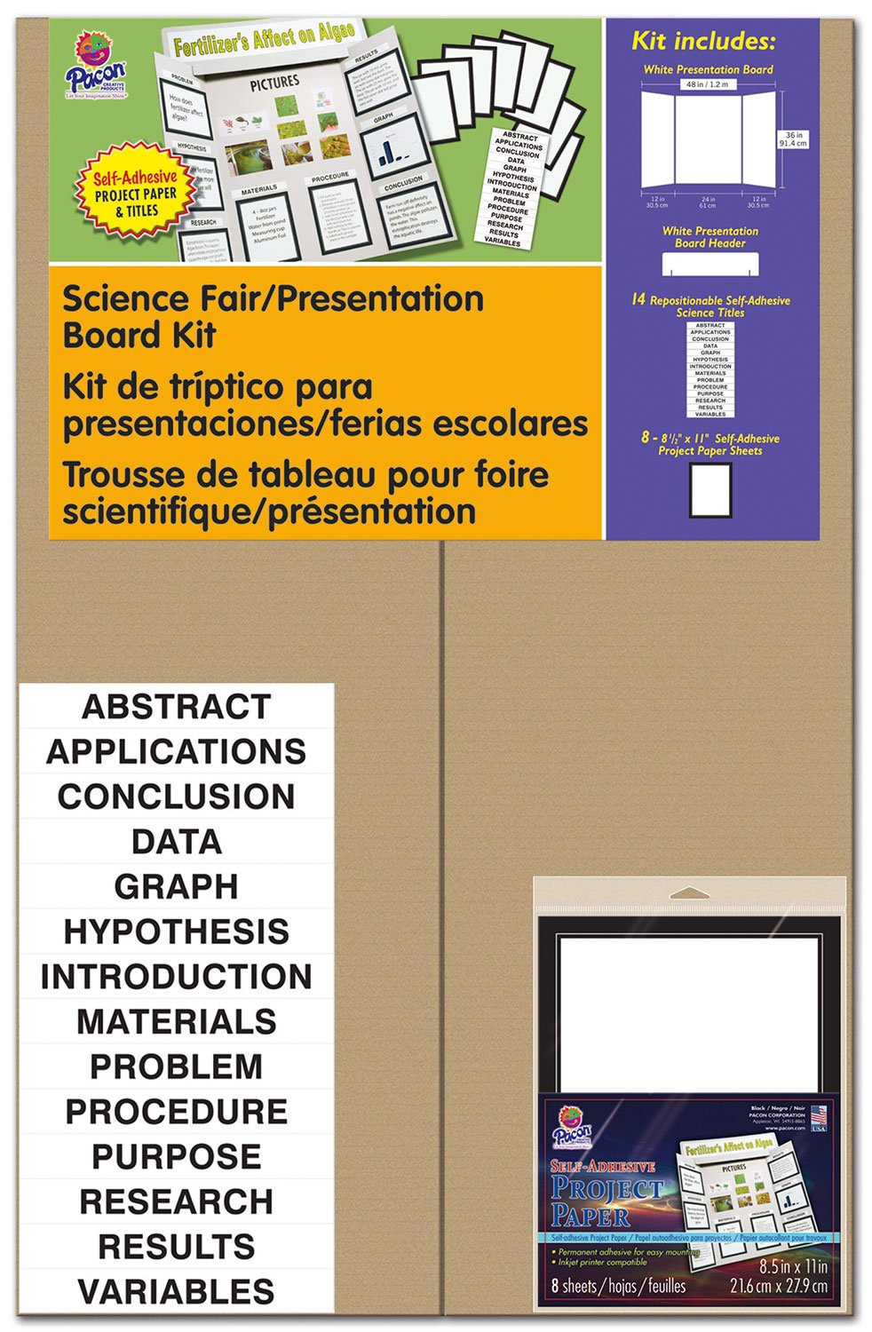 Pacon Presentation Board Kit with Project Paper 3794