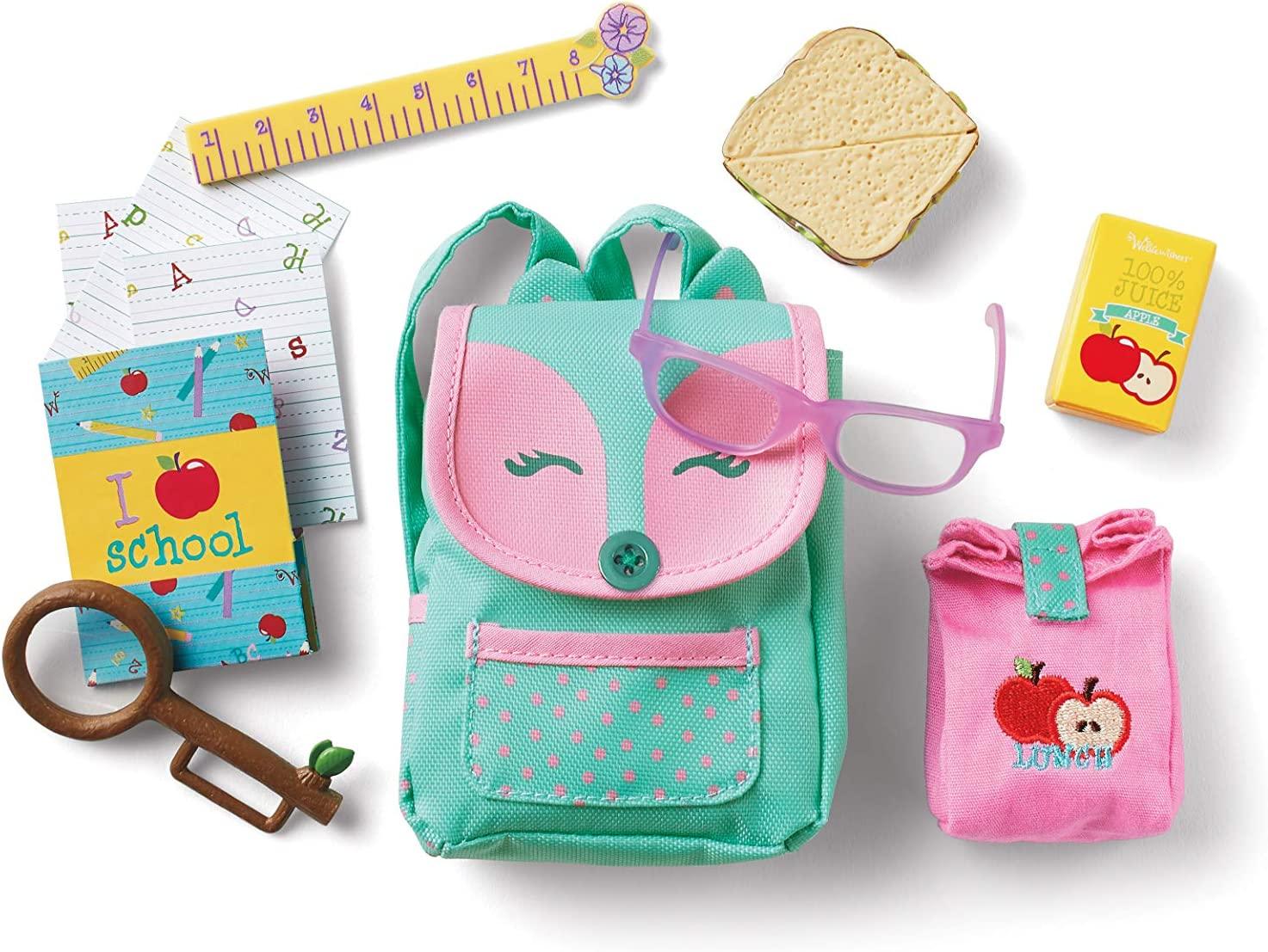 American Girl WellieWishers Ready to Learn Backpack & Lunch Set for 14.5