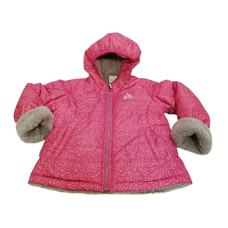 Gerry Girls' Pink Hooded Reversible To Berber Down Winter Coat