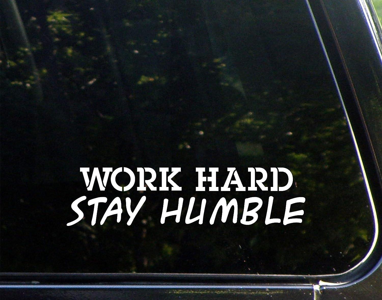"Diamond Graphics Work Hard Stay Humble (8-3/4"" x 2"") Die Cut Decal Bumper Sticker for Windows, Cars, Trucks, Laptops, Etc."