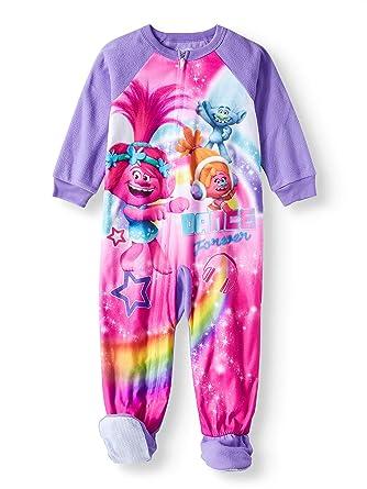 8082430ad3 Trolls Toddler Girls Footed Blanket Sleeper Pajamas Dance Forever (5t)