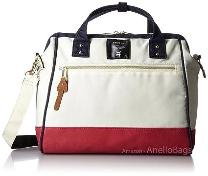 294fb12c1513 Japan Anello LARGE MIX-F 2 Way Unisex Shoulder Bag Poly Canvas Waterproof  Campus