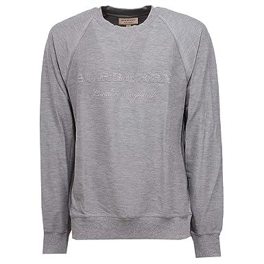 1824555c8a45 BURBERRY 8864X Felpa Uomo Grey Cotton Sweatshirt Man  L   Amazon.fr  Vêtements  et accessoires