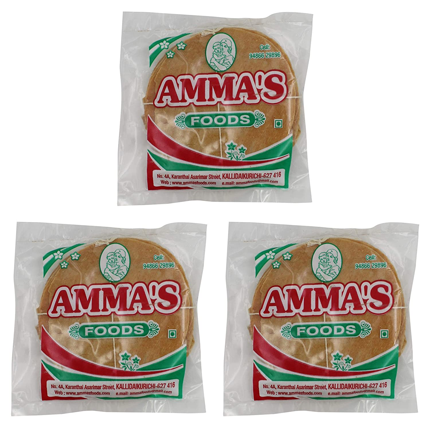 Amma\'s Foods Tapioca Salty Appalam, 200 g (Pack of 3): Amazon.in ...