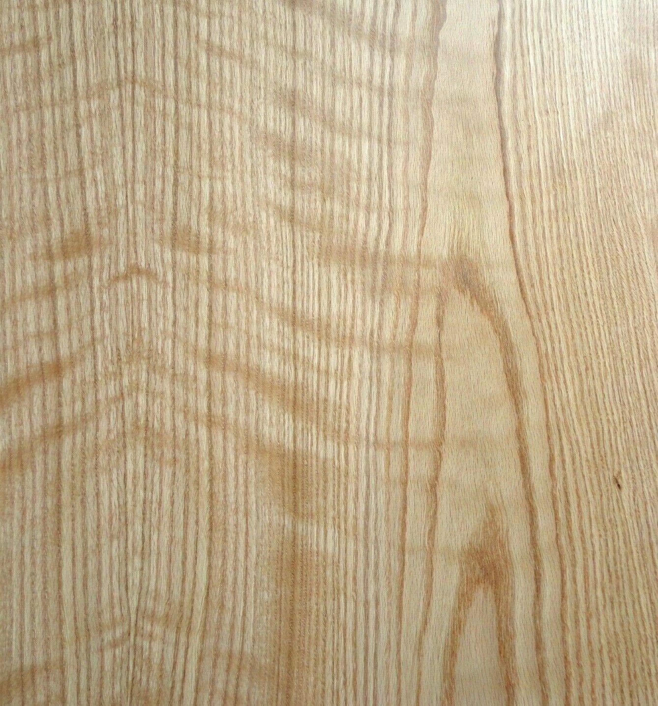 Red Oak Tiger Figure Flame wood veneer sheet 48'' x 96'' with paper backer 1/40''