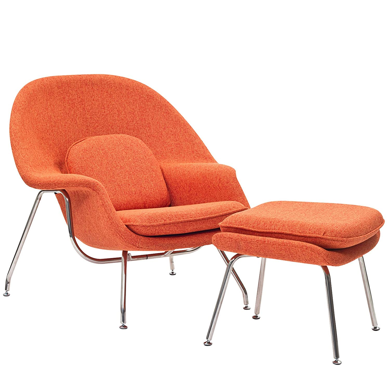 Amazon Modway Eero Saarinen Style Womb Chair and Ottoman Set