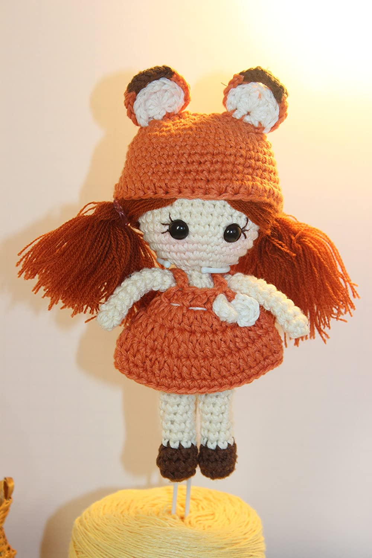 Meemoo Crochet Girl Doll - Foxie Girl