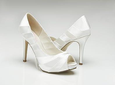 cc98b1c96f5c Pink Paradox London Pretty Ivory Wedding Shoes Size 8  Amazon.co.uk ...