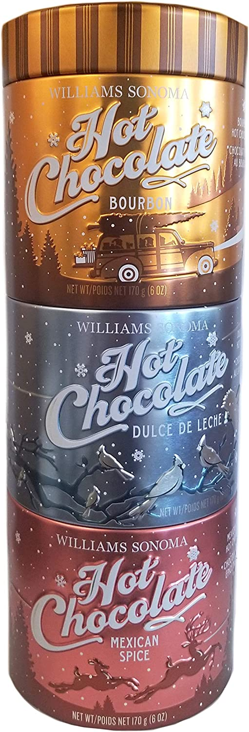 WS Premium Guittard Hot Chocolate Trio Collection Sampler - 3 Pack (6 oz. ea)