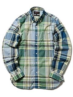 Big Check Buttondown Shirt 11-11-5196-139: Green / Yellow