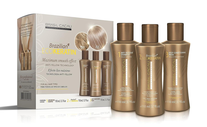 42166ce97a7f2 Brasil Cacau ECOKERATIN Brazilian Keratin Hair Treatment 110ml Kit   Amazon.co.uk  Beauty
