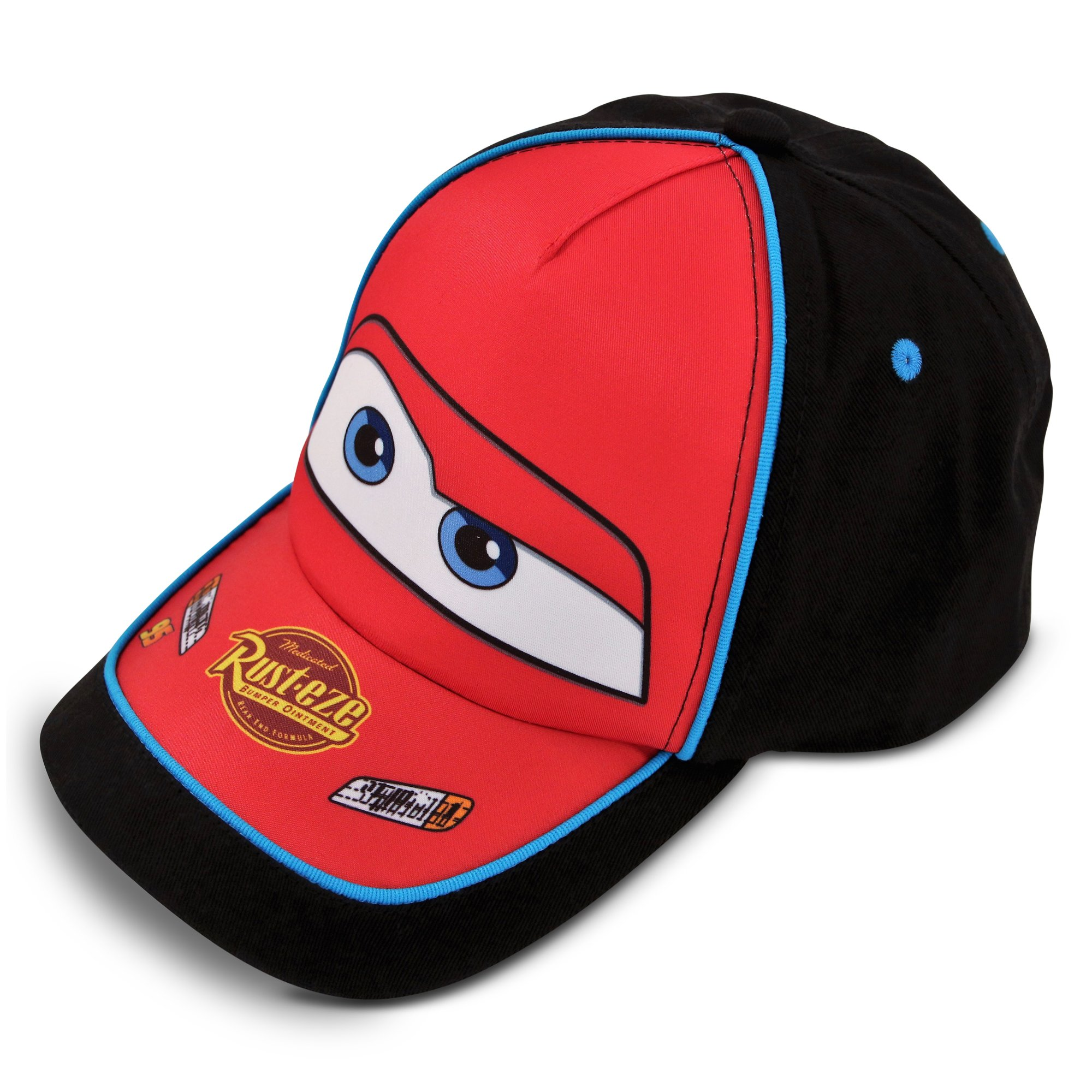 Disney Little Boys Cars Lightning McQueen Cotton Baseball Cap, Little Boys, Black/Red, Age 4-7
