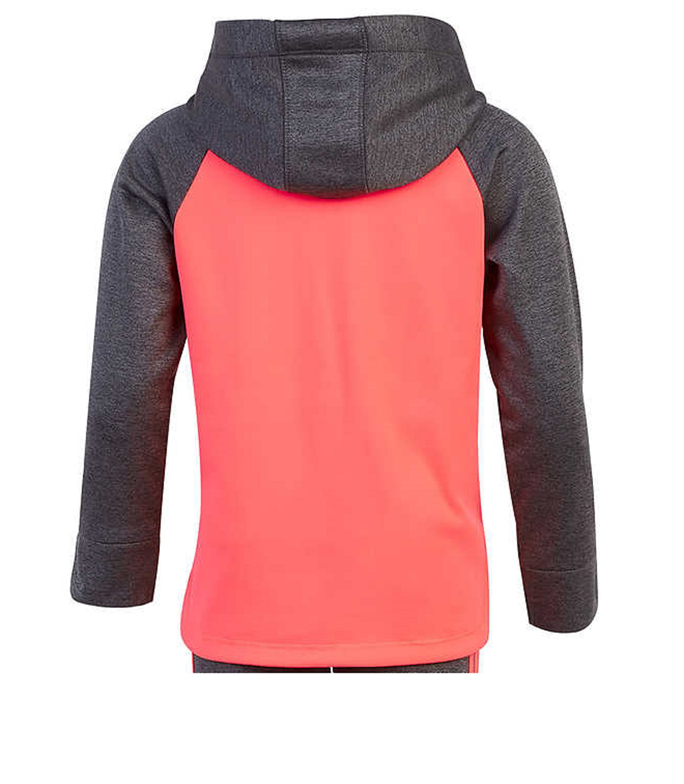 adidas Girls' Tricot Hoodie Jacket and Pant Set (4T, Heather Gray/Neon Pink) by adidas (Image #4)