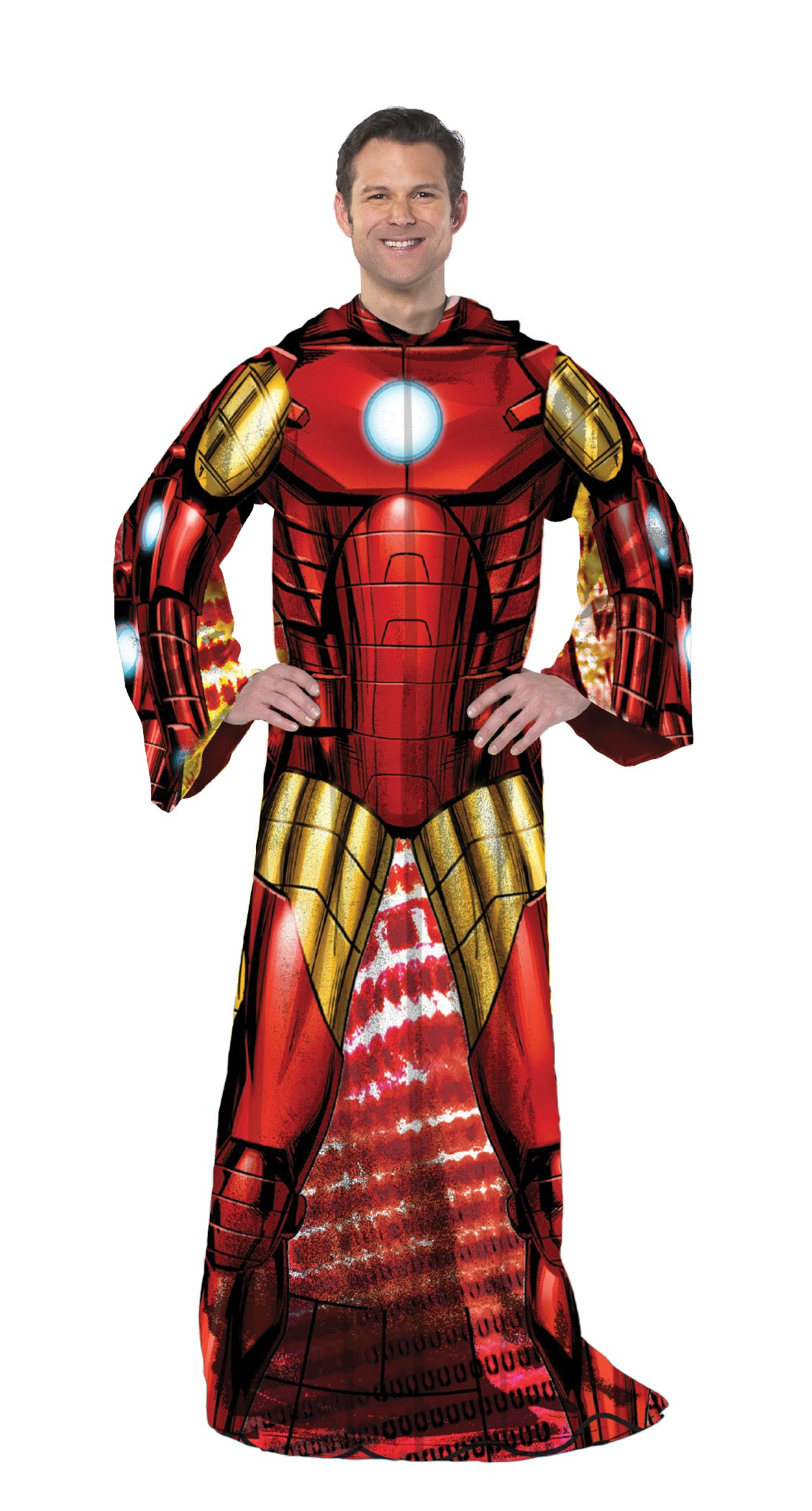 Marvel's Iron Man, ''Being Iron Man'' Adult Comfy Throw Blanket, 48'' x 71'', Multi Color by Marvel