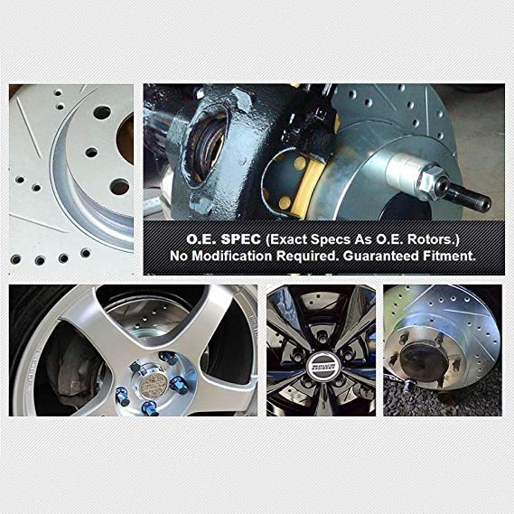 POWERSPORT *DRILLED /& SLOTTED* DISC BF05907 2 Rear Brake Rotors