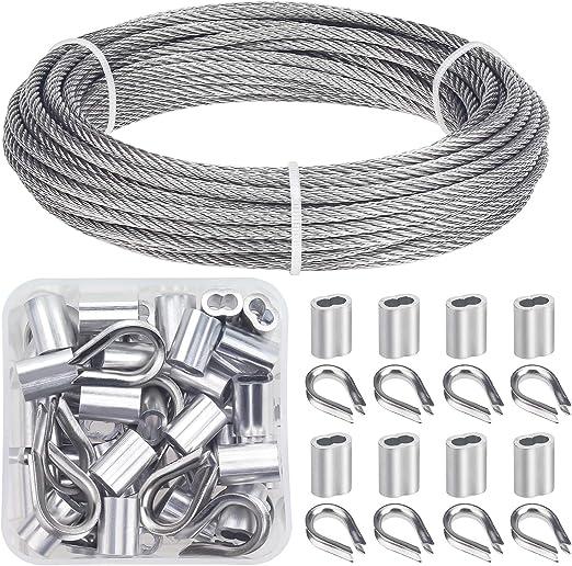 Kits de barandilla de cable de acero inoxidable para cable de 1//8