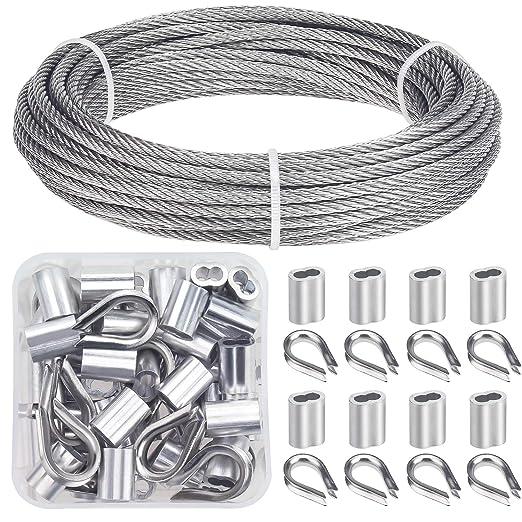 Amazon.com: Favordrory Kit de rieles de cable incluye 1/8 ...