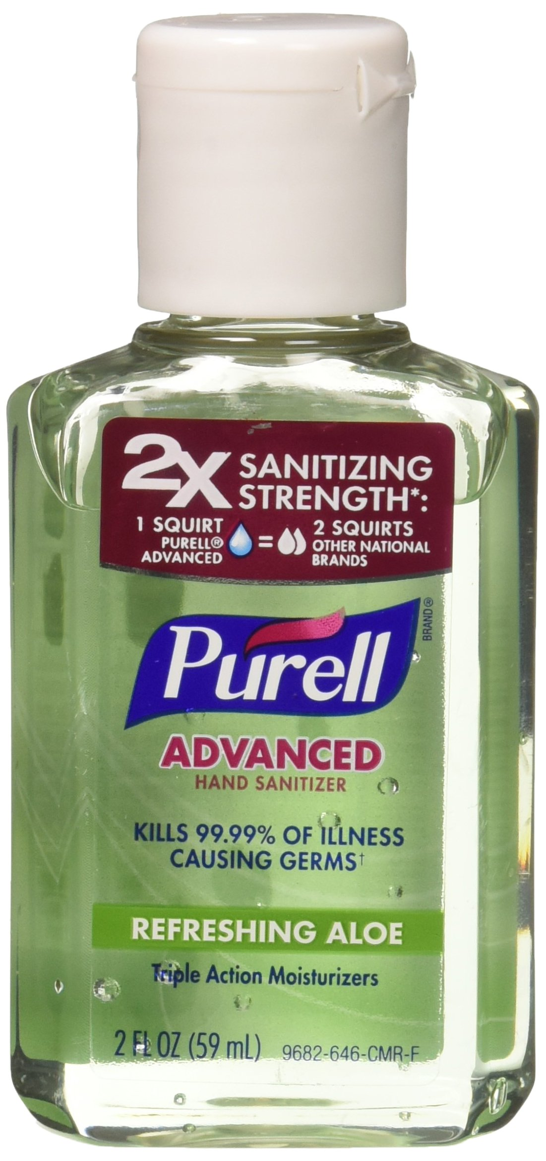Purell Hand Sanitizer with Aloe 2 Oz (Pack of 6) by Purell