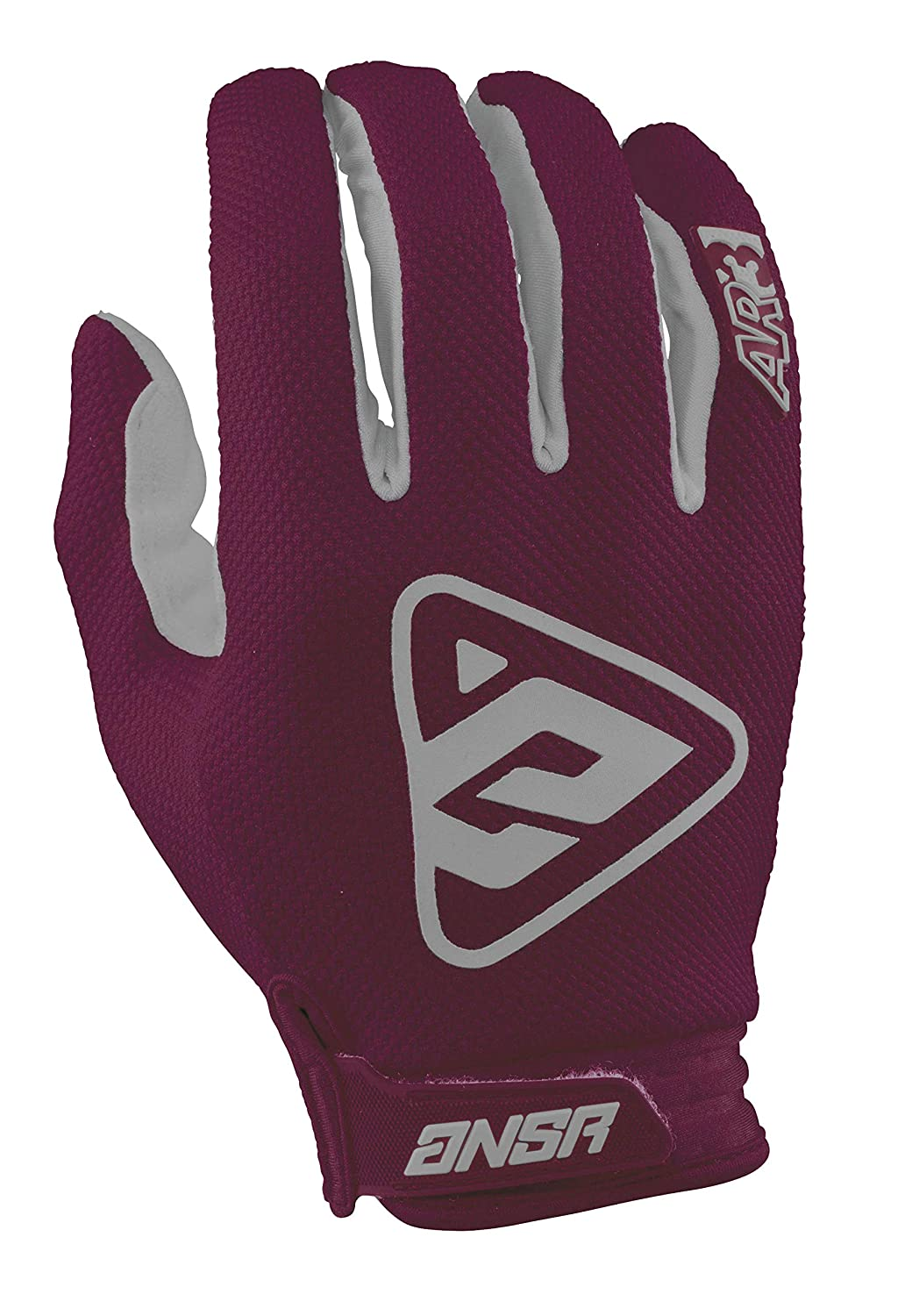 Berry//Grey Answer Racing AR3 Mens MotoX Motorcycle Gloves Large