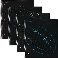 Five Star - Cuadernos en espiral con rayas, 1 tema, 28 x 21 cm, deportes, 4 unidades (38206)