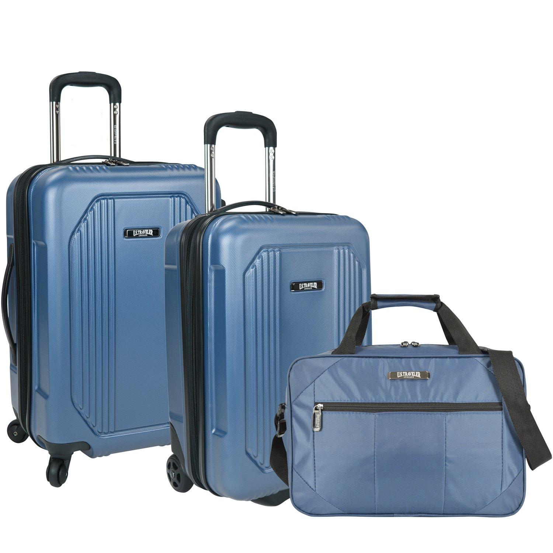 Amazon.com | U.S Traveler Bloomington Carry-on 3-Piece Luggage Set ...