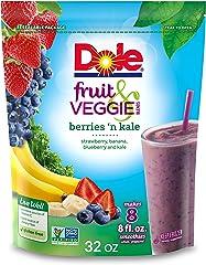 Dole Frozen, Fruit & Veggie Blends, Berries 'n Kale, 32oz