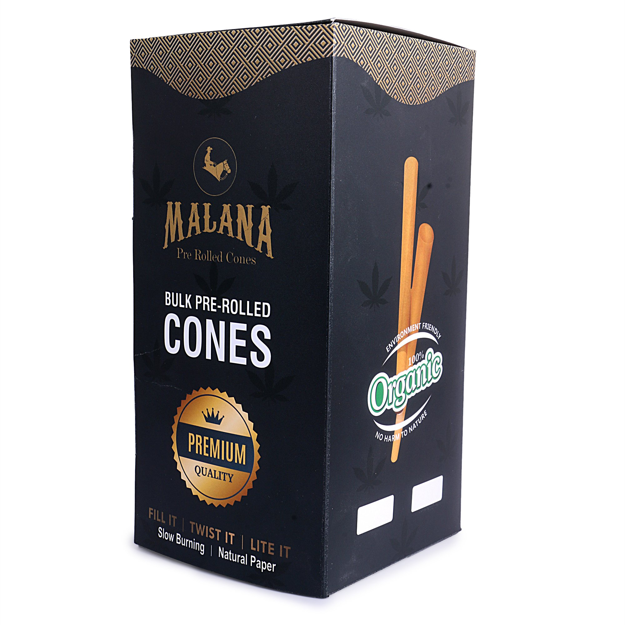 Malana Pre Rolled Cones - King Size 800 Count (Natural Brown Paper) 109/26 by Roll With Us Depot (Image #2)