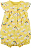 Carter's Baby Girls' Ground Rainbow Snap up Cotton
