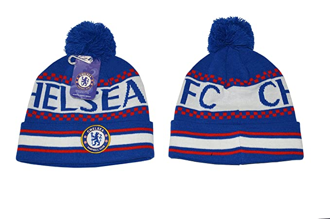 e3e3015a8ed Amazon.com  Chelsea Fc Beanie Skull Cap Pom Pom Hat New Season 2015 ...