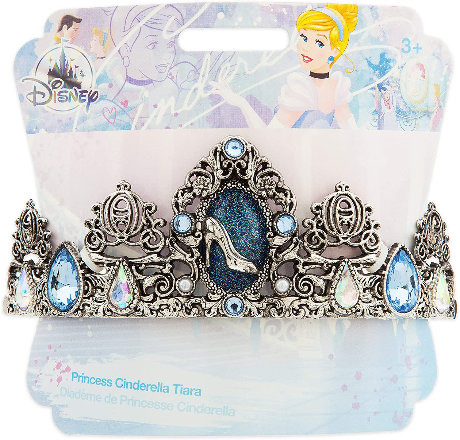 Girl PRINCESS CINDERELLA TIARA Headband Headpiece Disney Stor Child Silver Crown