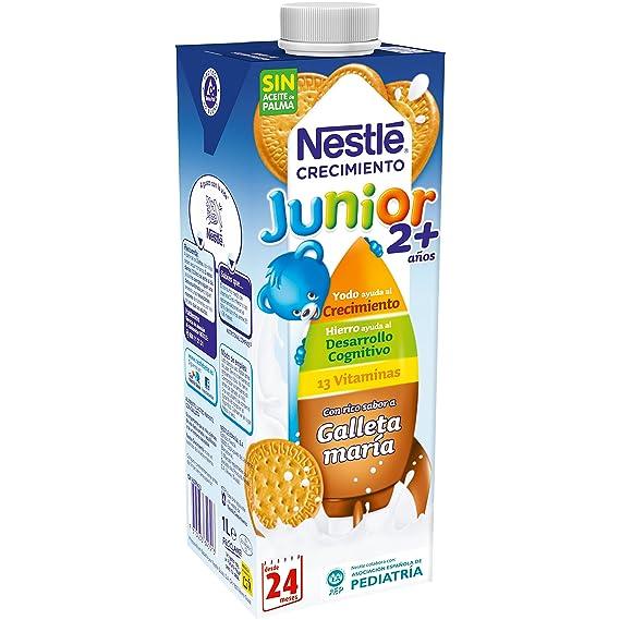 Nestlé Junior Crecimiento 2+galleta María - Leche para niños a partir de 2 años