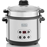 Black+Decker 3-in-1 Smart Cooker for Cooking Boiling and Steaming, Silver, 1.8 litre, RPC1800-B5