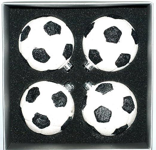Adornos de Navidad de cristal de balón de fútbol en caja, juego de ...