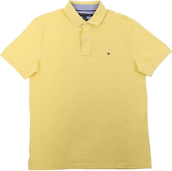 Tommy Hilfiger - Polo - para Hombre Amarillo Amarillo L: Amazon.es ...