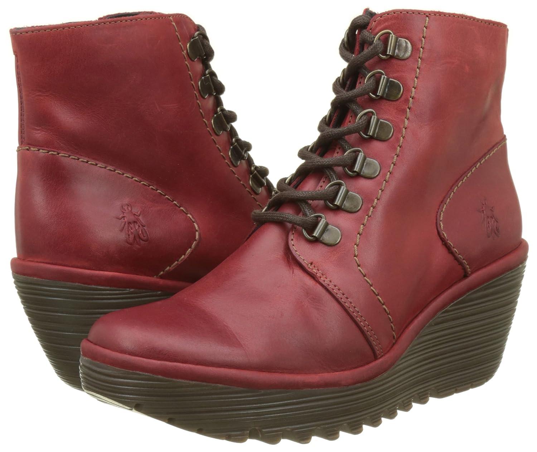 FLY London Women's Yarn772fly Oxford Boot B06WW8W8WQ 41 M EU (10-10.5 US)|Red Rug