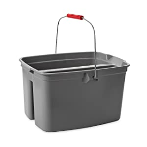 Rubbermaid Commercial Double Pail Plastic Bucket, 19 Quart, Gray, FG262888GRAY