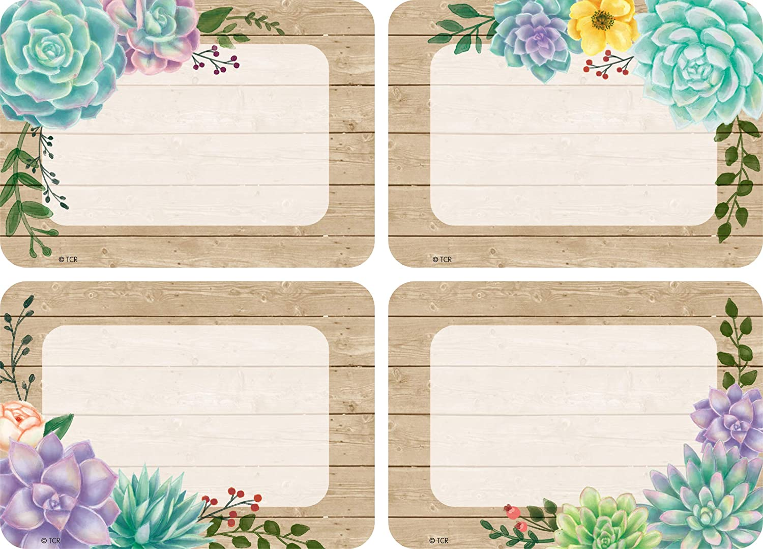 Teacher Created Resources Rustic Bloom Name Tags/Labels (TCR8596)