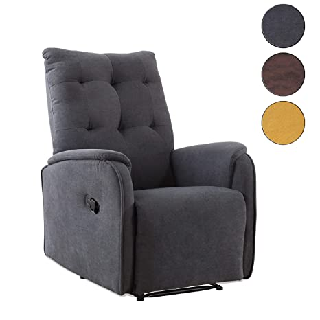 Adec - Swing, Sillón Relax automático, tapizado en Tejido Color Gris, butaca Descanso, Medidas: 70 cm (Ancho) x 80 cm (Fondo) 93 cm (Alto)
