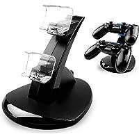 MyGadget PS4 Estación de Carga para 2X Control Sony Playstation 4 Dualshock - LED Dual Docking Station de Cargado y…