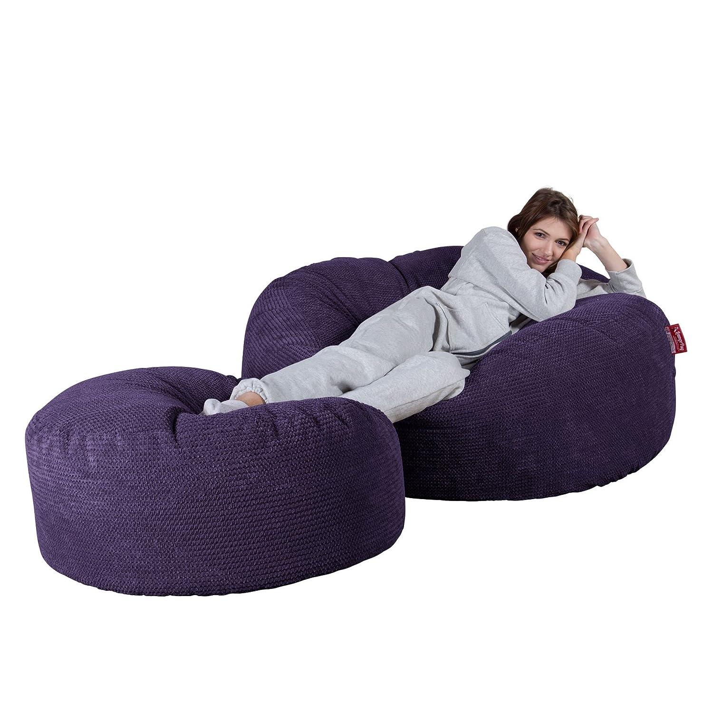 Viola Lounge Pug/® Pompon Pouf Sacco Gigante XXXL Mega Mammut