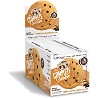 Lenny & Larry's The Complete Cookie, Soft baked Peanut Butter Chocolate Chip, 16g Plant Protein, 4 oz cookie, 12 count